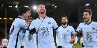 Jorginho (2nd L) celebrates Image credit: Getty Images