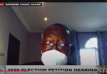 Witness Rojo Mettle-Nunoo is appearing via video link