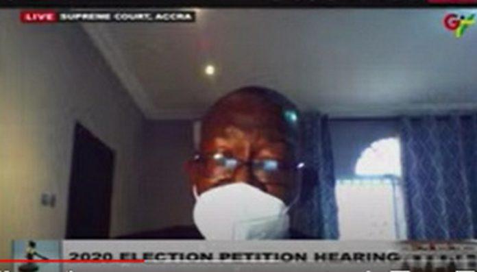 Witness Rojo Mettle-Nunoo is appearing via video link