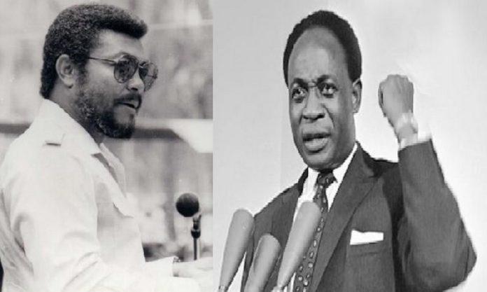 The late Jerry John Rawlings and Kwame Nkrumah