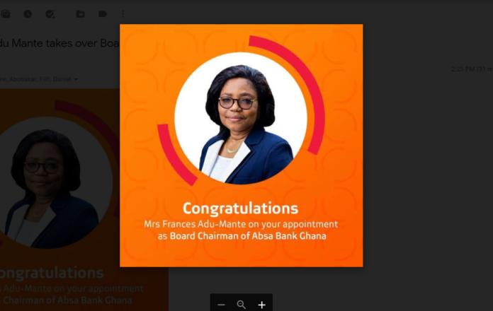 Frances Adu-Mante, Board Chair, Absa Bank Ghana