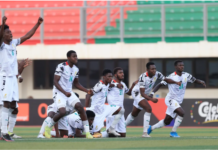 Black Satellites celebrate after win over Cameroon