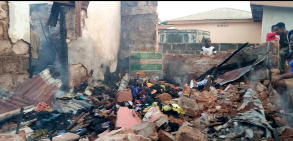 80-year-old woman trapped as fire consumes 5-bedroom house at Dampong 4