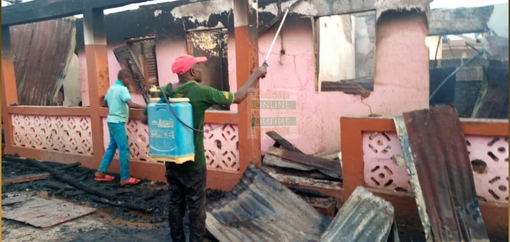 80-year-old woman trapped as fire consumes 5-bedroom house at Dampong 5