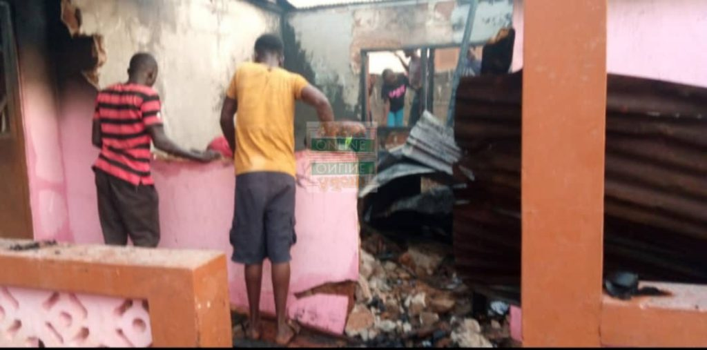 80-year-old woman trapped as fire consumes 5-bedroom house at Dampong 3