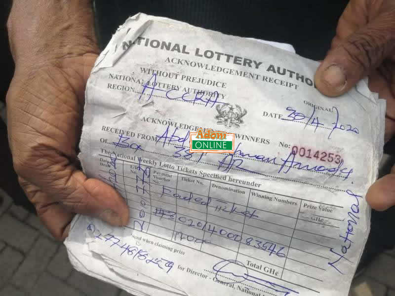 National Lottery Authority protest
