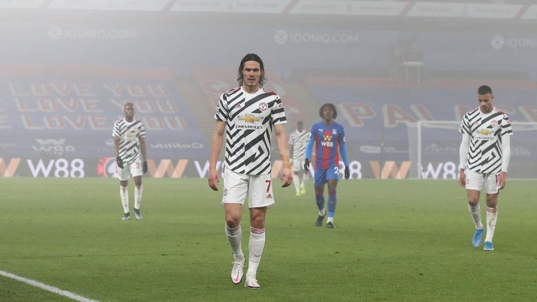 Edinson Cavani of Manchester United walks in at half time during the Premier League match between Crystal Palace and Manchester United at Selhurst Park on March 03, 2021 in London, England Image credit: Getty Images