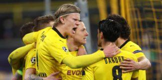Erling Haaland of Borussia Dortmund celebrates with Mahmoud Dahoud Image credit: Getty Images