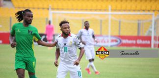 Gladson Awako in action against Sao Tome