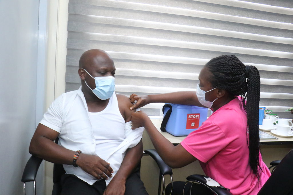 Staff of The Multimedia Group receive COVID-19 vaccine [Photos] 85