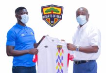 Hearts of Oak new coach Samuel Boadu with Togbe Afede