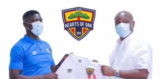 Hearts of Oak new coach Samuel Boadu with Togbe Afede