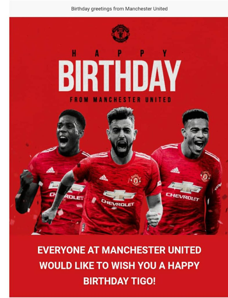 Man Utd celebrates Adomonline.com editor Joshua Tigo on his birthday [Photo] 4