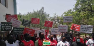 NDC pressure group protest over pink sheets