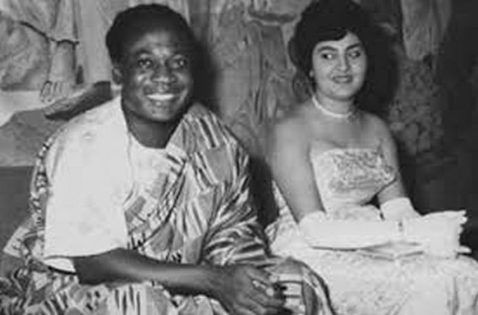 Kwame Nkrumah and Fathia Nkrumah
