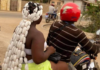 Lady's hairstyle looking like packets of 'gari' causes stir on social media