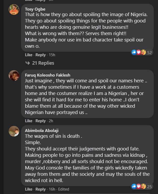 Nigerians react to death sentence for kidnappers of Takoradi Girls | Adomonline.com