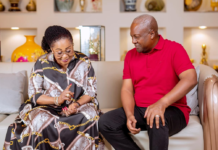 Ex-President Mahama and his wife Lordina