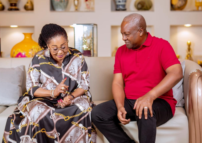 Ex-President Mahama and his wife Lordina