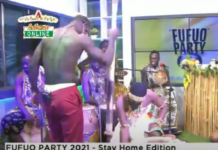 AY Poyoo pounds fufu on Adom TV with Sister Sandy
