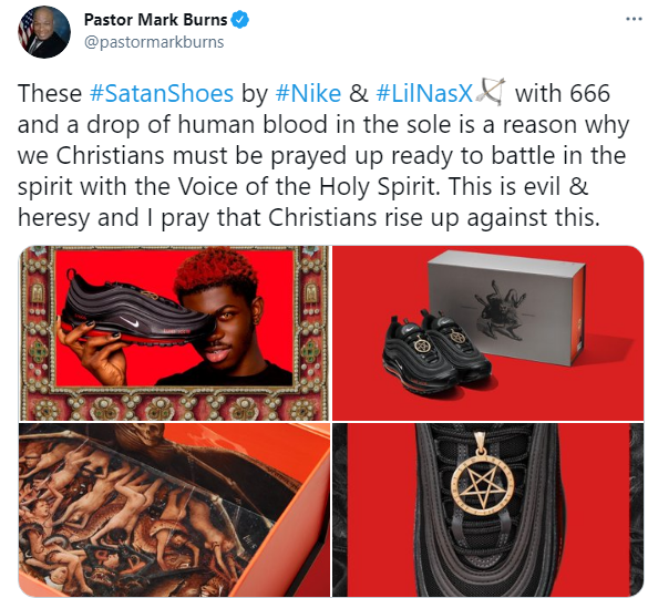 """Check out the new """"Satan Shoes"""" that comes with real human blood in them"""