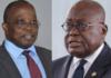 Daniel Yaw Domelevo (right) and President Akufo-Addo (left)