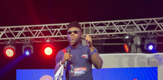 Prince David Osei campaigns for the New Patriotic Party in 2020.