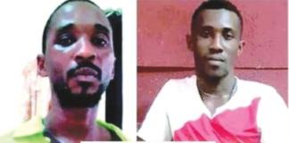 The suspects; Samuel Udeotuk Wills and John Oji