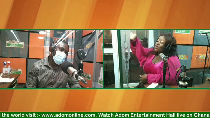Gospel musician Selina Boateng in an interview with Mike 2 on Adom FM's Entertainment Hall show