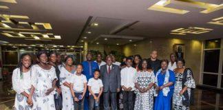 Kweku Baako, family and Charlotte Osei pay courtesy call on Akufo-Addo