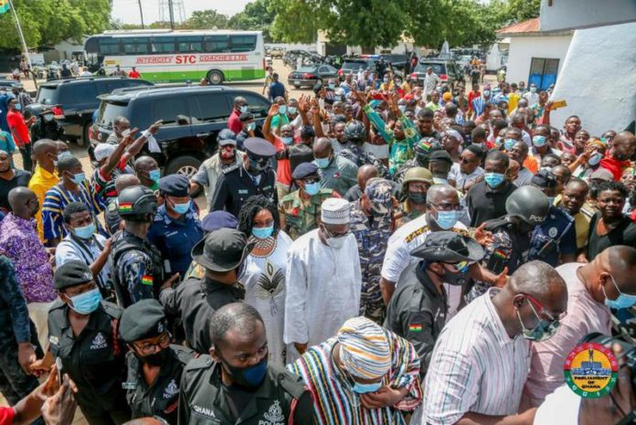 Alban Bagbin storms hometown to a massive crowd