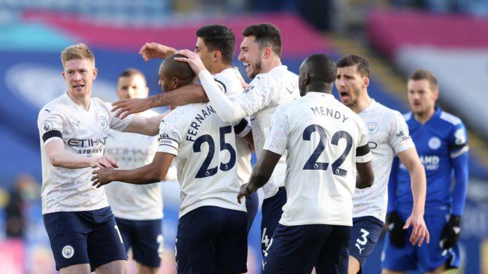 Fernandinho of Manchester City celebrates Image credit: Getty Images