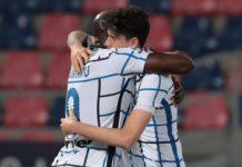 Romelu Lukaku of FC Internazionale celebrate with Alessandro Bastoni Image credit: Getty Images