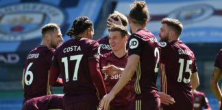Stuart Dallas of Leeds United celebrates with teammates Image credit: Getty Images