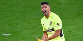 Luis Suarez reacts Image credit: Getty Images