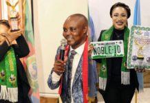 Tonto Dike receives fake UN award