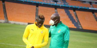 Kwame Poku with Black Stars coach, CK Akonnor