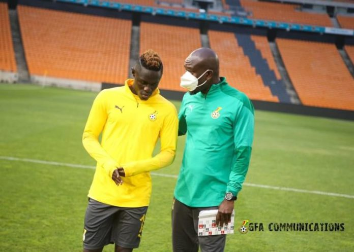 Kwame Poku with Black Stars coach, CK Akonnor