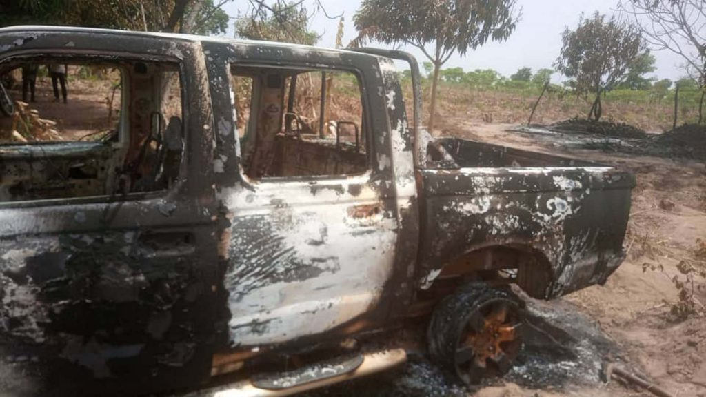 Nkwanta North Assembly's car set on fire. 49