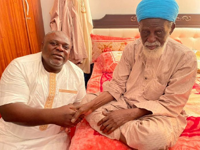 Anyidoho greets the Chief Imam during his visit