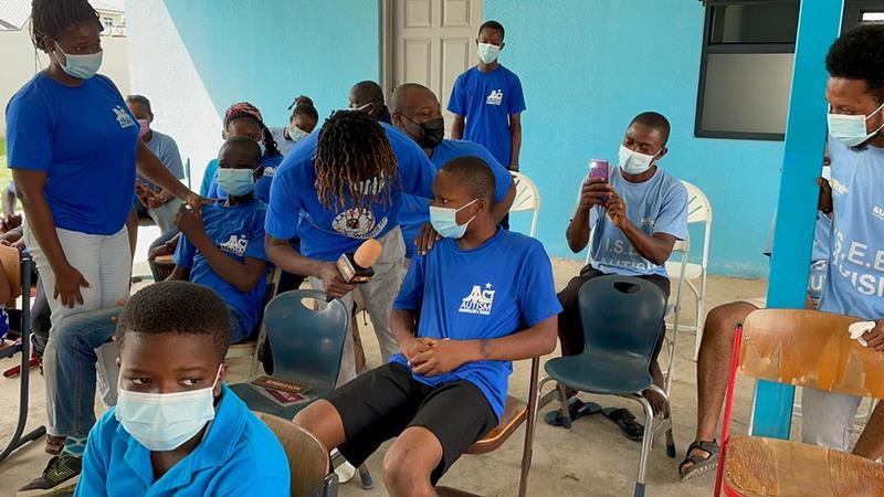 Kofi Mole celebrates birthday with Autistic kids