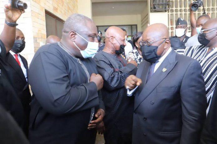 Koku Anyidoho meets Akufo-Addo, Bawumia
