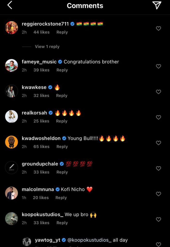 """Celebrities congratulate Yaw Tog after he was named """"BET Amplified International"""" Artist of the Month"""