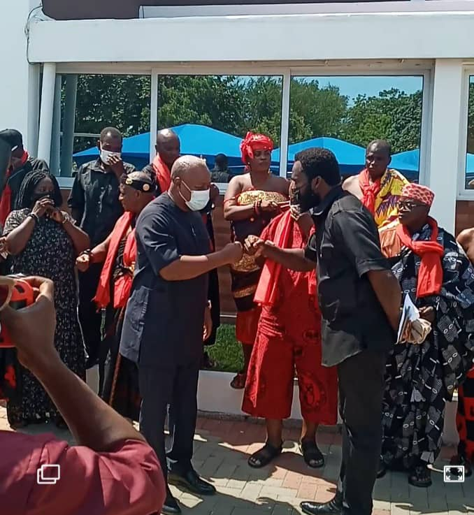 Anlo, other Volta Chiefs and families pay courtesy call on John Mahama