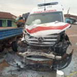 Ambulance carrying pregnant woman involved in accident