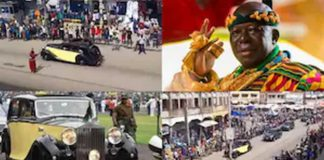 Otumfuo rides in the streets of Kumasi