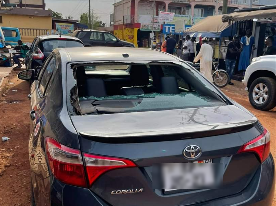 Man narrowly escapes death after armed robbers tried snatching his car at GIMPA