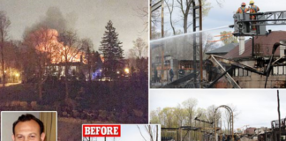 An under-construction mansion in Canada owned by Pornhub executive Feras Antoon burned down