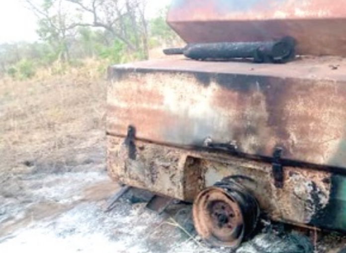 Military destroys equipment belonging to illegal miners