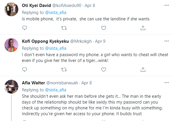 Give your girlfriend access to your phone, she'll never cheat on you - Sista Afia